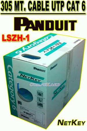 Cable De Red Utp Panduit Cat 6 Caja X 305 Mts Nul6c04bu-ce