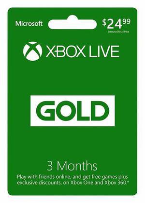 De Mrcargas Xbox Live Gold 3 Meses Membresia