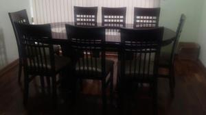 Mesa ovalada comedor o cocina y sillas posot class for Mesa comedor ovalada