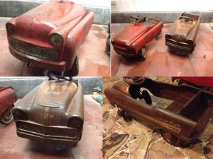 Antiguos carros a pedal