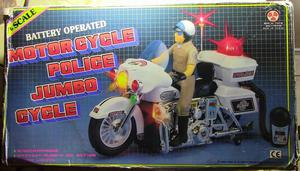 Jugete Vintage, Motorcicleta Policial con luces y Microfono,