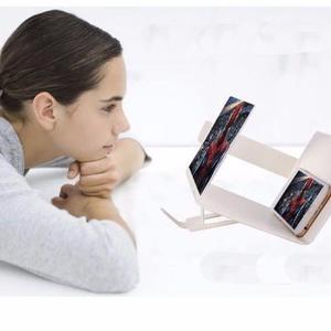 Pantalla Zoom 3d Lupa Con Soporte Para Celular