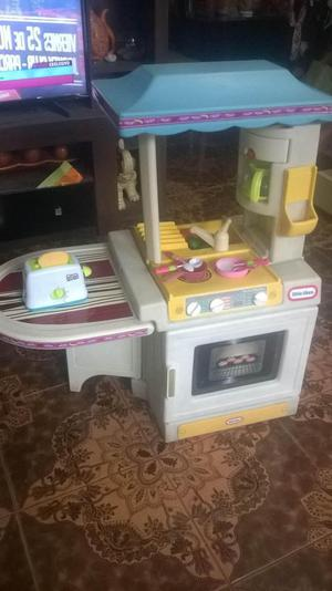 Cocina cocinita parrilla barbacoa little tikes posot class - Cocina de juguete step 2 ...