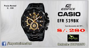 Reloj Casio Edifice EFR 539BK
