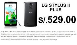 I PLUS LG K530F STYLUS S/.529 Plan CLARO MAX 149
