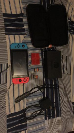 Nintendo Switch con 2 Juegos Y Case Orig