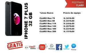 PLUS APPLE IPhone 7 PLUS 32GB, desde S/. en planes