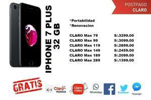 WhatsApp Apple iPhone 7 Plus 32GB, desde S/. en