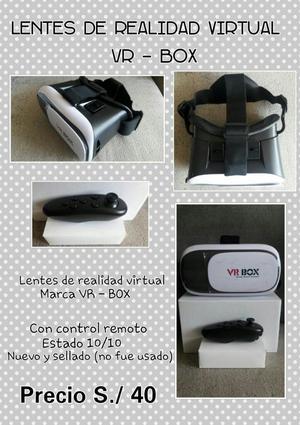 Lentes de Realidad Virtual Vr Box Nuevos