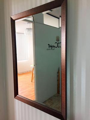 Espejo con marco de melamina muyy elegante posot class for Espejo con borde biselado