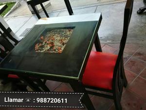 Juego de mesas sillas restaurante