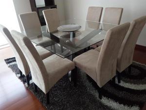 Comedor cuadrado 8 sillas ubicaci n lima posot class for Comedor 8 sillas
