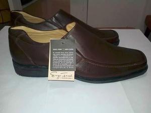 Zapatos Mocasín De Cuero Marrón Talla 43 Enzo Ferré