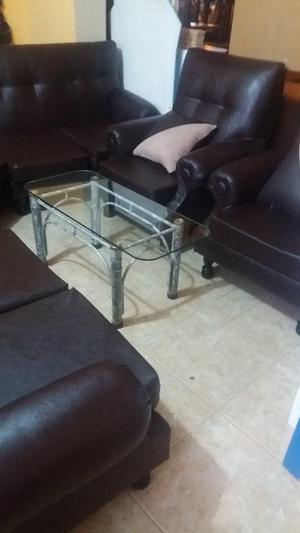 juego de muebles de cuero industrial lavable sin uso