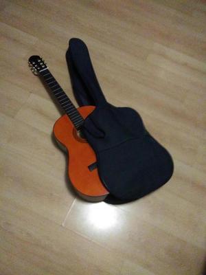Guitarra acústica, con funda y manual de aprendizaje