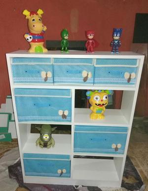 Mueble de melamina repisa cubos veladores gabinete posot for Mueble de melamina