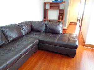 Mueble Seccional de Cuero Marrón