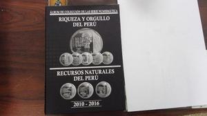 Albúm De Monedas Riqueza Y Orgullo Del Perú No Circuladas.