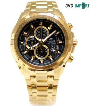 Reloj Casio Edifice Dorado Ef-539fg-1av - 100% Original