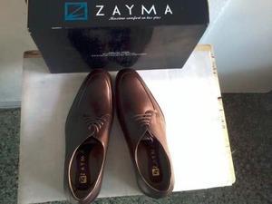 Zapatos De Cuero Marrón Talla 42
