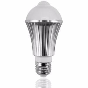 Foco Led Con Sensor De Movimiento Y Luz De 6w E27 Aluminio