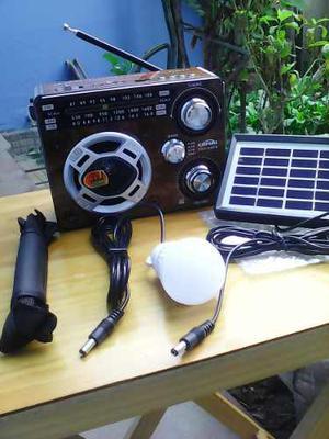 Panel Solar Radio Solar Lampara Cargador Celular Solar
