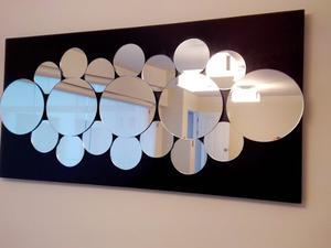 Cuadros modernos con espejos incrustados posot class for Espejos circulares pequenos