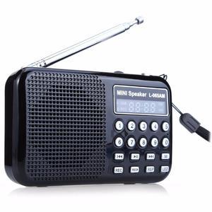radio AM/FM bateria recargable parlante, micro sd, linterna
