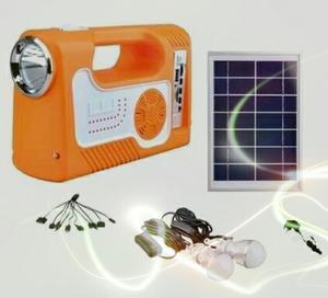 Mini Kit Solar Lampara, Radio, Cargador