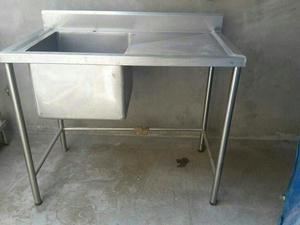 Carrito para negocio de acero inoxidable posot class for Muebles cocina acero inoxidable