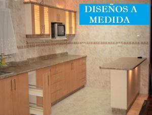 Muebles de cocina, reposteros, closets de melamina