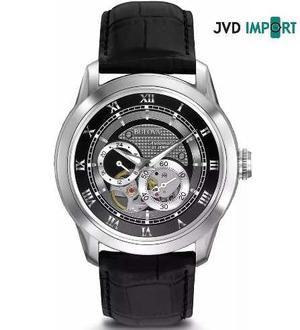 Reloj Bulova 96a135 Series Automático 21 Jewels Cuero