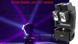 Cabeza Móvil De 8 Led Modelo luces Sicodelicas Humo
