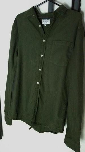 Camisa Hombre Verde Militar