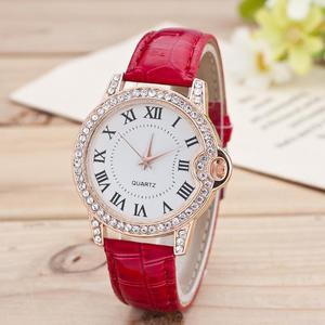 Reloj Mujer de cuarzo correa de cuero y pulsera