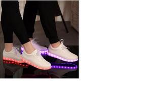 Vendo Zapatillas Led De Cuero Blancas Completamente Nuevas