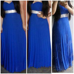 Vestido de Fiesta Color Azul