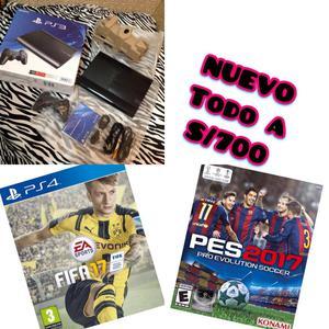PS3 Súper Slim NUEVO SELLADO EN CAJA FIFA  PES