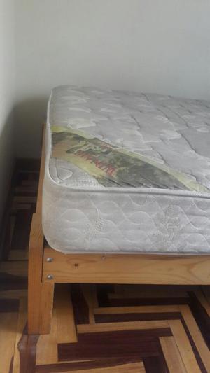 Cama de 1 plaza con colchon cabecera comoda posot class for Colchon para sofa cama 1 plaza