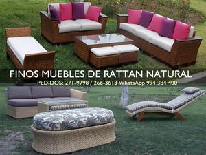 Fabricación y Venta de Muebles de Rattan Natural