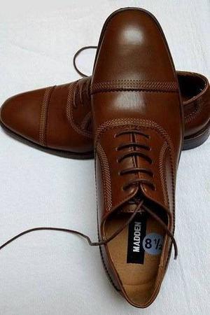 Madden, Zapatos De Vestir Para Caballero, Cuero Marrón 8½
