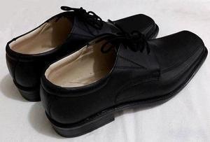 Zapatos De Vestir Para Caballero, Cuero Negro (Mate)