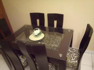 Comedor madera vidrio de 6 sillas posot class for Comedor de vidrio con 6 sillas