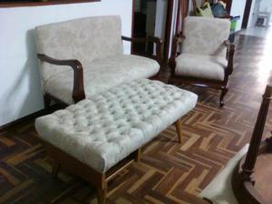 Sillon, Sofa De Dos Cuerpos Y Bamqueta Oferta S/.