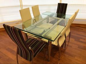 Mesa de comedor linear expandible mica posot class - Mesa comedor 6 sillas ...
