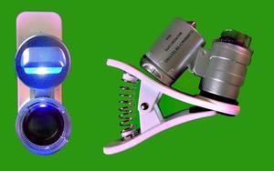 Minilupa 60x Clip Microscopio Led/uv para todo tipo de