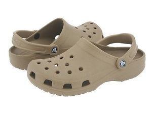 Sandalias Crocs/ Seminuevas/ Talla 10/ Beige
