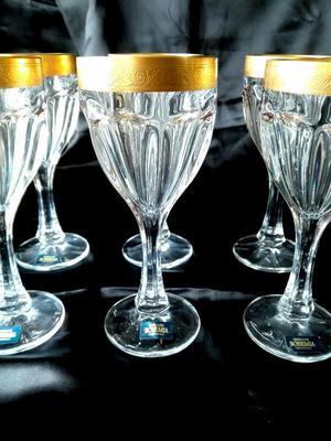 Copas de vino 6 unid260 ml bohemia cristal posot class for Copas bohemia