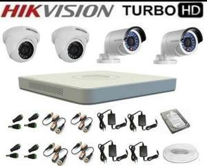 Hikvision Kit Completo 4 Camaras Hd 1tb