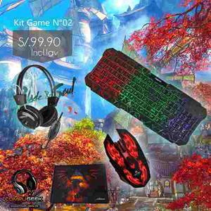 Kit Gamer N°02 Teclado/mouse/audifono/ Regalo Pad Mouse